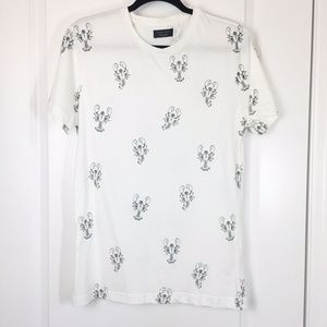 Zara Man Printed T-shirt With Lobsters - Size S